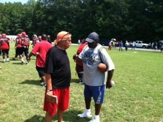 Coaches Mike Smith of Hampton and Tommy Reamon of  Landstown.