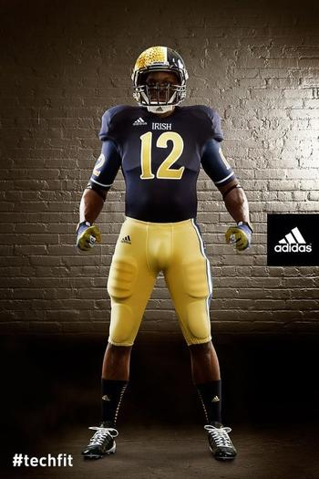 The Fightin¿ Irish new uniforms