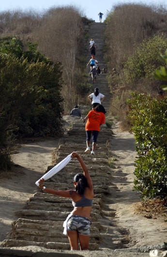 These Stairs Are Among The 375 Up To The Baldwin Hills Scenic Overlook.
