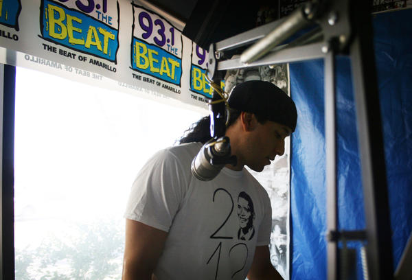 "Lion makes one of his regular visits to 93.1 the Beat, an Amarillo radio station that offers hip-hop programming considered taste-making in west Texas. The station has continued to support Lion's music after he released his song ""Ben,"" which supported the gay community."