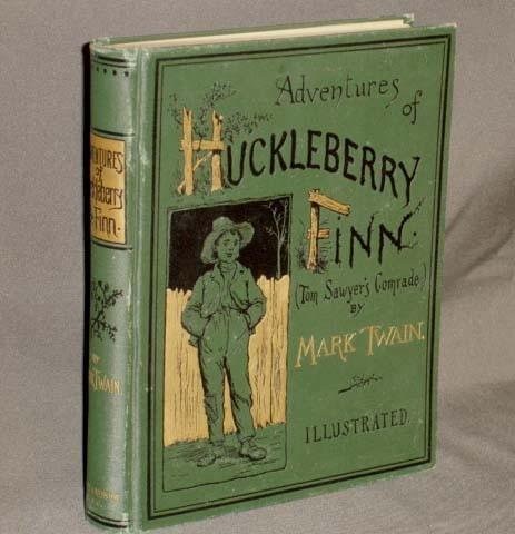 The first American edition of Adventures of Huckleberry Finn (1885)