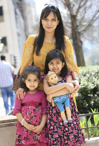 "Kamran, 31, is a  corporate recruiter (with daughters Zaina, 4,and Rimel, 6)<br> <br> <b>Looks </b>as if the family is decked out in flowers for the season: ""The girls are wearing the new spring line from Nordstrom. I was keeping them for the summer, but when I saw the weather, we got excited.""<br> <br> <b>And a new dolly has joined the family?</b> ""We planned to get her in a couple of days, but Rimel just couldn't wait, so we got her yesterday."""