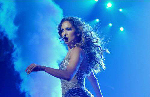 Jennifer Lopez performs during her co-headlining tour with Enrique Iglesias.