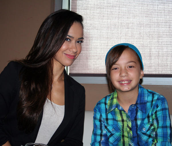 """Raw"" General Manager AJ Lee and Hannah Mitchell."