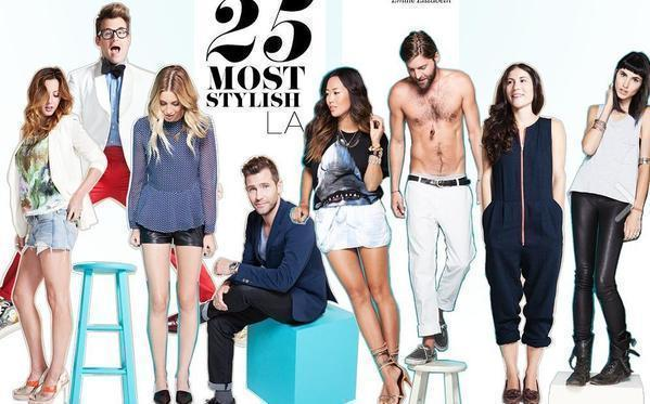 A screenshot of the 25 most stylish L.A. feature from the StyleCaster website.