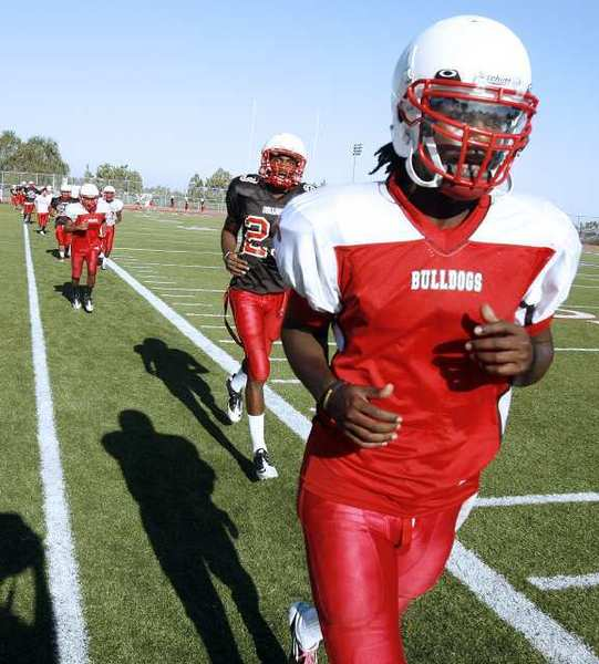 The Pasadena High football team will look to quarterback Brandon Cox, who's committed to the University of Arizona, to lead it to a Pacific League title in 2012.