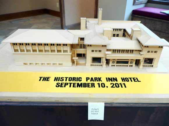 Model of the hotel