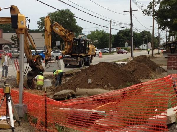 Expect road construction and delays as construction continues on the Storrs Center complex.