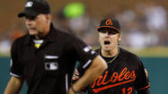 DETROIT — Orioles first baseman Mark Reynolds offered no apologies after getting ejected from Friday night's 5-3 loss to the Tigers at Comerica Park, only a frustrated sermon on how he believed two controversial calls forced the O's to battle two difficult foes  – the Tigers and the umpires.