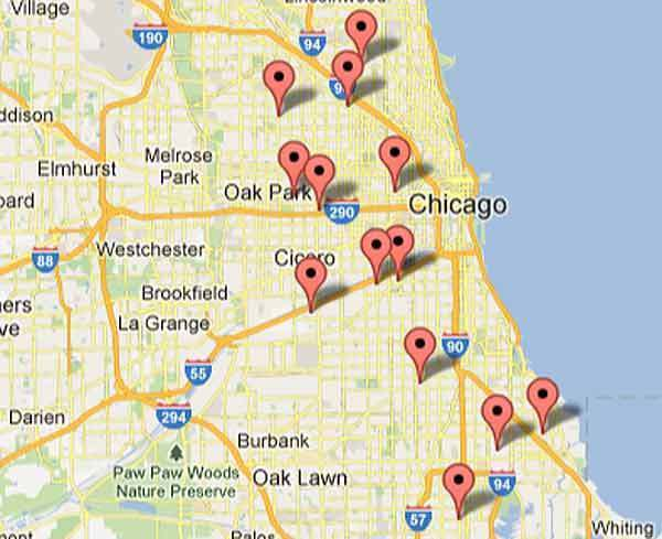 People were shot at these locations on Aug. 17 and 18