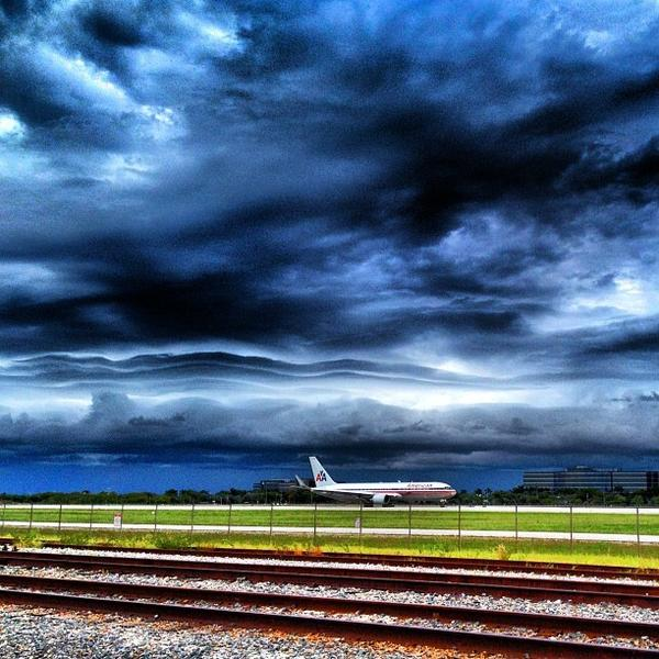 """Typical afternoon sky over Miami International Airport,"" Suzanne Rodriguez."