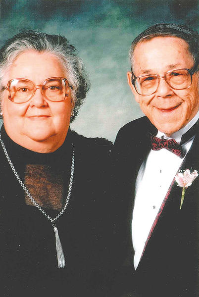 Helen Geyer and Glenn E. Geyer Sr. are pictured in November 1994 at the wedding of their son, Glenn Jr.