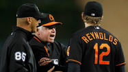 "DETROIT -- Orioles first baseman Mark Reynolds said Saturday he expects to receive a fine for <a href=""http://www.baltimoresun.com/sports/orioles/blog/bal-mark-reynolds-unplugged-orioles-first-baseman-rips-umpires-after-reversed-call-20120817,0,192180.story"" target=""_blank"">his critical comment about the umpiring</a> in Friday night's 5-3 loss to the Tigers, but he didn't really retreat from his statements."