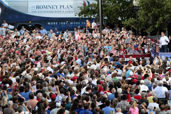 """Mr. President, take your campaign of division and anger and hate back to Chicago, and let us get about rebuilding and reuniting America,"" Romney said Tuesday in Chillicothe, Ohio, marking a newly fiery tone in his campaign."