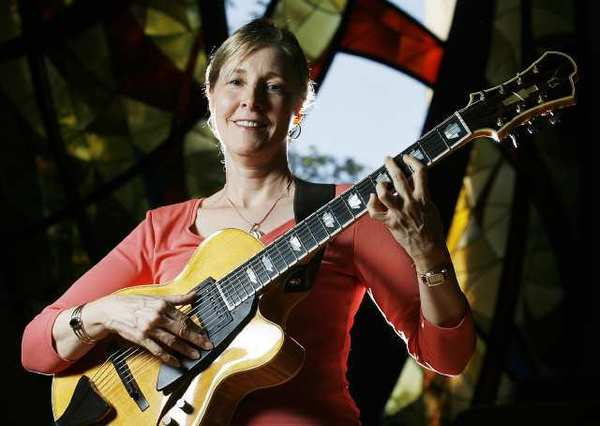 Singer-guitarist Diane Hubka at Pasadena Presbyterian Church. Hubka will be performing at Pasadena Presbyterian Church on August 24.