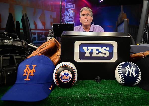 "Mike Francesa, prominent sports talk show host, talks about his show ""Mike's On: Francesa on the FAN,"" at WFAN in New York City on Tuesday, July 17, 2012. The pioneering station is celebrating its 25th Anniversary."