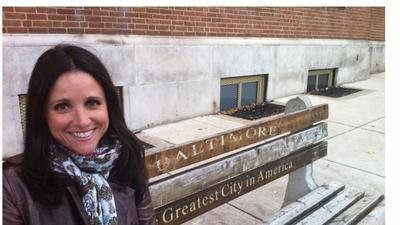 "Julia Louis-Dreyfus in Baltimore where she films HBO's ""VEEP"""