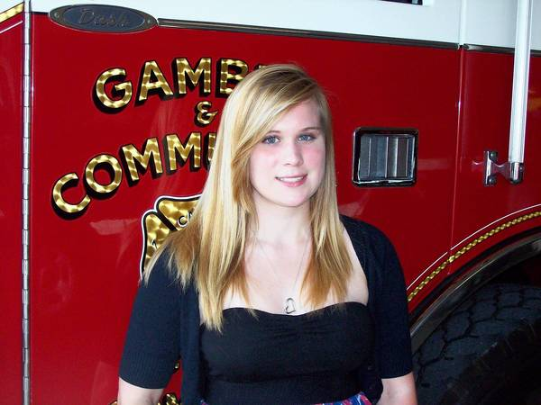 Julianne Weidman, of Finksburg, has been named the winner of the 2012 Oscar Brothers Memorial Scholarship, which is given in conunction with the Gamber and Community Fire Co.