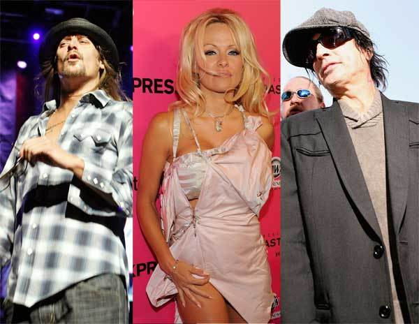 Former Pamela Anderson flames Kid Rock and Tommy Lee traded words in a heated exchange during Alicia Keys' performance during the 2007 MTV Video Music Awards. Both rockers had to be escorted out of the theater by security. (Getty Images)