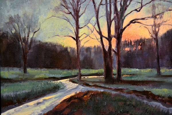 "An entry in the 10th anniversary exhibit from artist Chris Wenderoth is the painting, ""Gorsuch Road."""