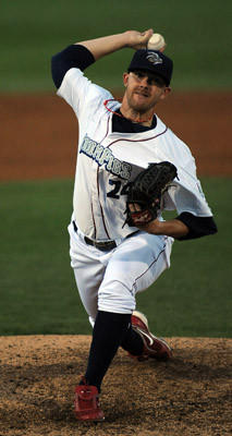 IronPigs pitcher Tyler Cloyd throws one in. The Lehigh Valley IronPigs take on the Toledo Mud Hens at Coca Cola Park.