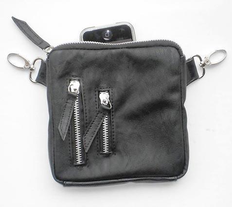 Hipzbag Square Passport Bag w/ Silver Hardware