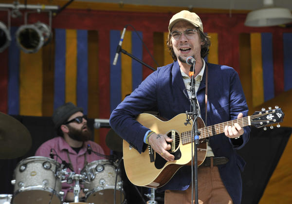 Justin Townes Earle performs at Hot August Blues at Oregon Ridge Park.