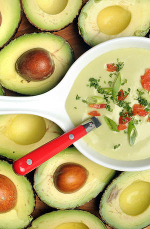 Gazpacho with avocado