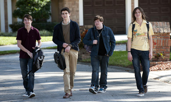 "Bubba Lewis, Joey Pollari, Zack Pearlman and Mark L. Young star in ""The Inbetweeners."""