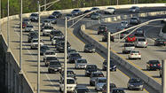 As of 9 a.m. Monday, traffic was slow on the outer loop of I-695 near the Baltimore National Pike, due to an accident involving two vehicles.