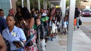 Students returned to Broward and Palm Beach county schools Monday, and officials reported trouble-free openings.
