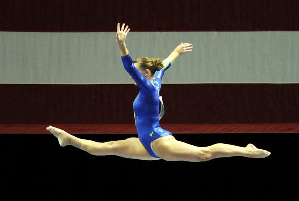 Bridget Sloan performed on the balance beam during the women's senior gymnastics competiton during the 2010 VISA Gymnastics Championships being held at the XL Center