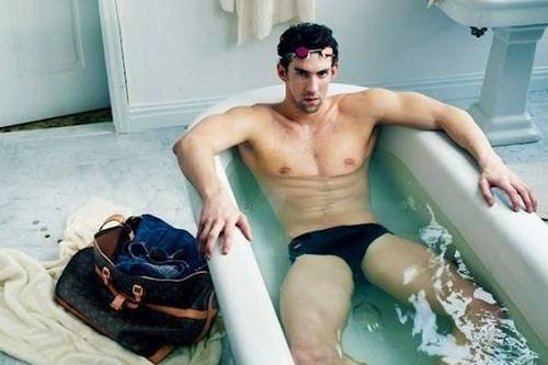 Olympic swimmer Michael Phelps was photographed for Louis Vuitton.