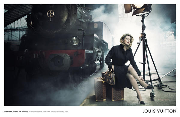French actress Catherine Deneuve was photographed for Louis Vuitton.