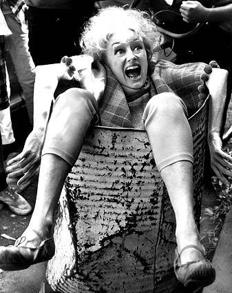 "Phyllis Diller in the 1967 movie ""Eight on the Lam,"" which starred Bob Hope. She was in more than two dozen movies, including three with  Hope, her comic idol."