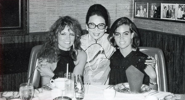"This image, from ""Madame Wu's Garden: A Pictorial History of a Celebrated Landmark,"" shows actress Dyan Cannon (left), Wu and Jennifer Grant, Cannon's daughter with Cary Grant."