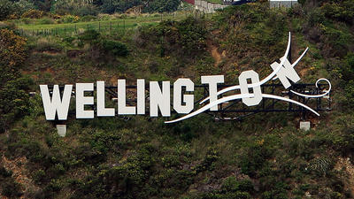 Offbeat Traveler: New Zealand's 'Wellington Blown Away' sign
