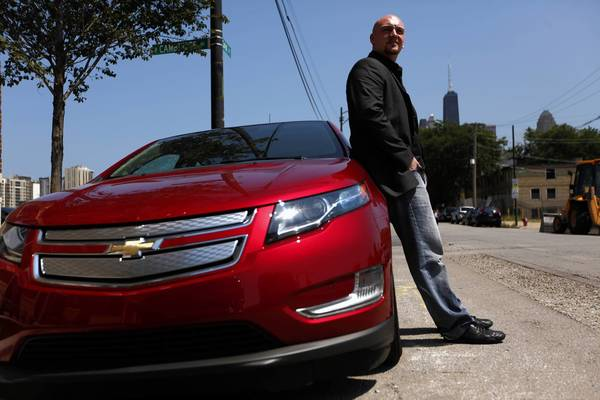 Joe Phelan, of Chicago, is a muscle car aficionado and found himself somewhat unnerved by the Chevrolet Volt's quiet electric power plant. While not completely sold on the car, Phelan nonetheless tweeted some 30 times about the Volt during his test drive.