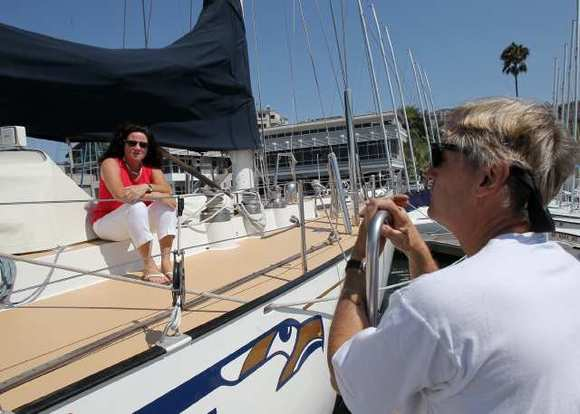 Sheri and Richard Crowe captained Orange Coast College's 65-foot sailing vessel, the Alaska Eagle, for the past 30 years. The boat is being sold.