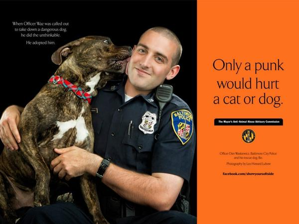 baltimore cop featured in show your soft side campaign