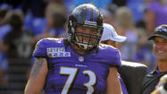 Starting right guard Marshal Yanda is not at Tuesday's practice at the team's headquarters in Owings Mills. Yanda appeared to be briefly injured Monday when tight end Billy Bajema undercut outside linebacker Chavis Williams, who rolled into Yanda's lower leg. Yanda remained on the turf for a few seconds and did not leave the practice field, but it's unclear if that is the reason for his absence.