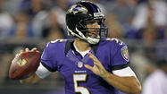 Early in training camp, when Joe Flacco had his full arsenal of weapons at his disposal, the Ravens quarterback often gave the Baltimore defense fits in daily red-zone drills. He stood tall in the pocket and lasered touchdown passes between defenders, who were left shaking their heads.