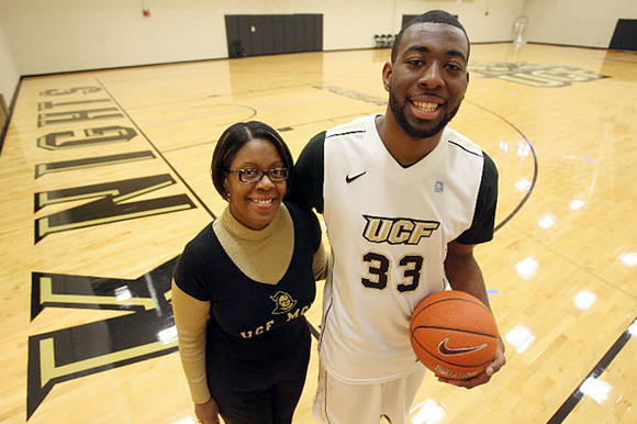 Picture: UCF basketball player Keith Clanton