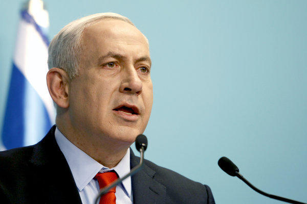 Israeli Prime Minister Benjamin Netanyahu delivers a statement at his Jerusalem office in July. In the wake of a beating attack on a Palestinian, he warned that Israel will not tolerate racism.