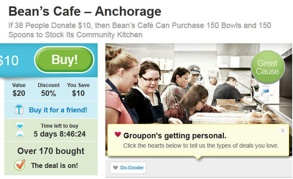 Bean's Cafe Partners with Groupon Grassroots