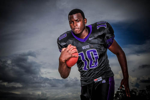 Jacques Patrick from Timber Creek High School poses for portraits during the Orlando Sentinel Varsity Media Day in Orlando, Fla. on Saturday, August 18, 2012.