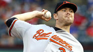 Tillman, McLouth, bullpen combine to lead Orioles over Rangers, 5-3