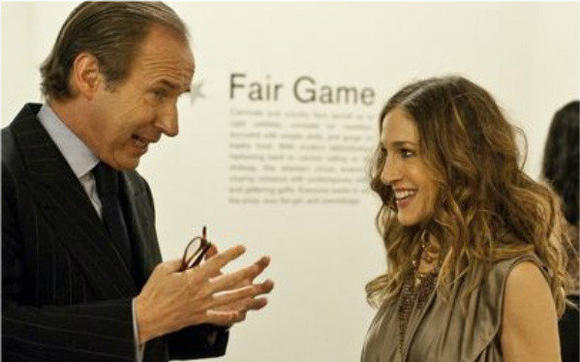 Simon de Pury and Sarah Jessica Parker