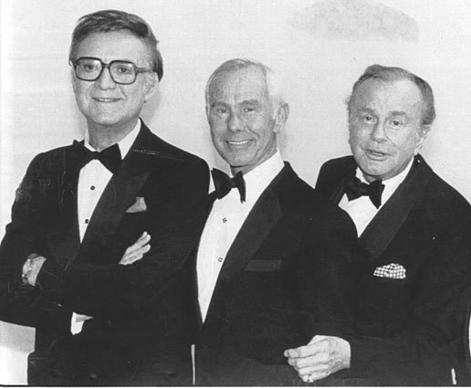 "It's rare that ""Tonight Show"" hosts get together like in this 1986 photo from ""NBC's 60th Anniversary Celebration"" that brought (from left) Steve Allen, Johnny Carson and Jack Paar in one room.<br>
