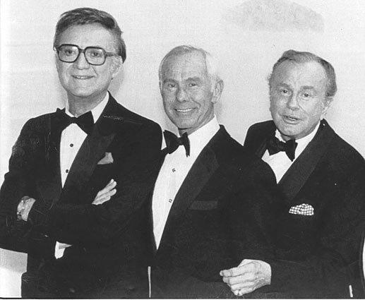 "It's rare that ""Tonight Show"" hosts get together like in this 1986 photo from ""NBC's 60th Anniversary Celebration"" that brought (from left) <a class=""taxInlineTagLink"" id=""PECLB000087"" title=""Steve Allen"" href=""/topic/entertainment/steve-allen-PECLB000087.topic"">Steve Allen</a>, <a class=""taxInlineTagLink"" id=""PECLB000880"" title=""Johnny Carson"" href=""/topic/entertainment/johnny-carson-PECLB000880.topic"">Johnny Carson</a> and Jack Paar in one room.<br> <br> Allen introduced the format that everyone now knows and follows (the couch, the celebrity guest, comedy bits), Paar helped brand and popularize the show, and Carson (to some) perfected it.  Here are a few moments throughout the show's history that stand out."